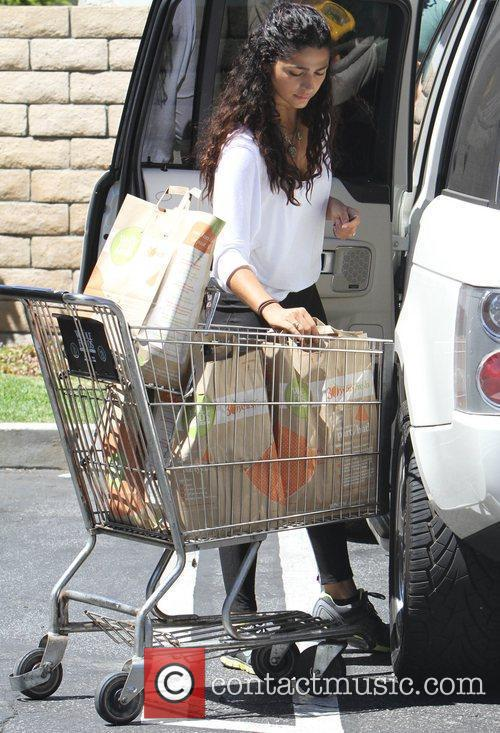 Camila Alves leaving Whole Foods Market after shopping...