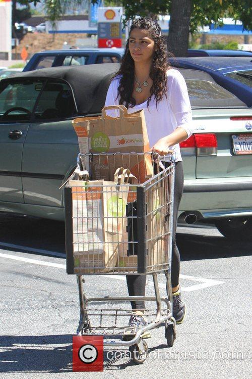 Leaving Whole Foods Market after shopping for groceries...