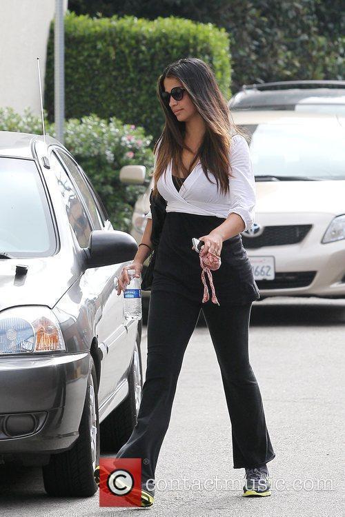 Brazilian model Camila Alves leaving a local gym...