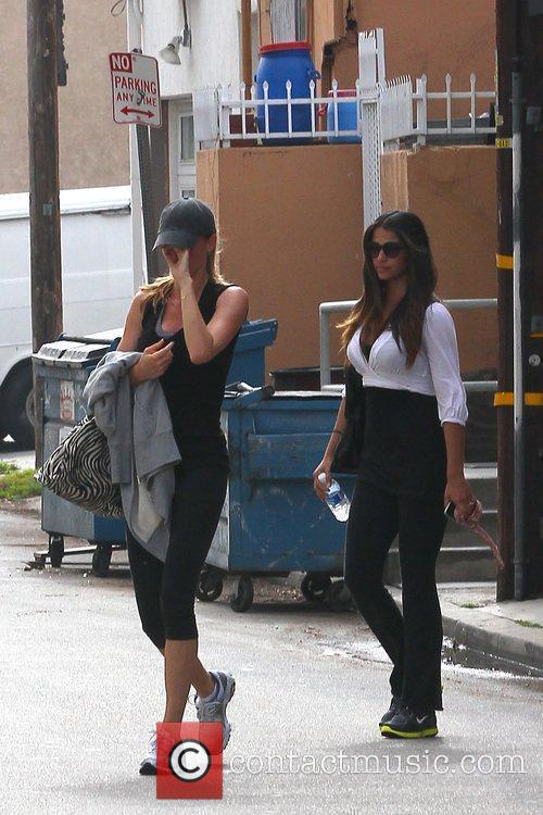 Gisele Bundchen and fellow Brazilian model Camila Alves...