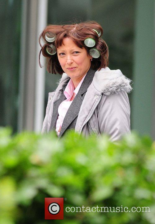 Lisa Millett on location for BBC drama Candy...