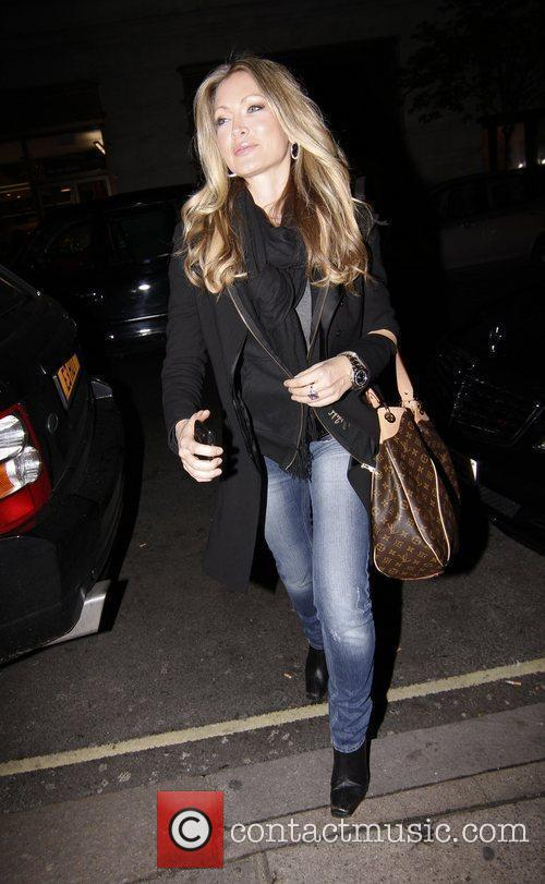 Caprice Bourret arrives at May Fair Hotel...
