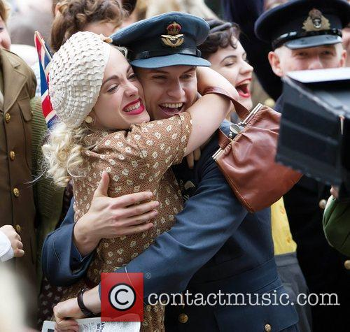 During the filming of Captain America: The First...