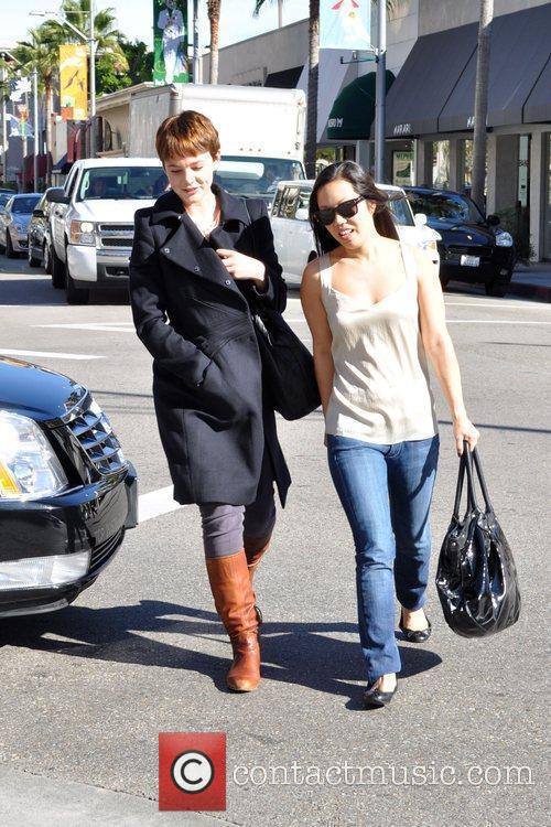 Carey Mulligan leaves a medical building in Beverly...
