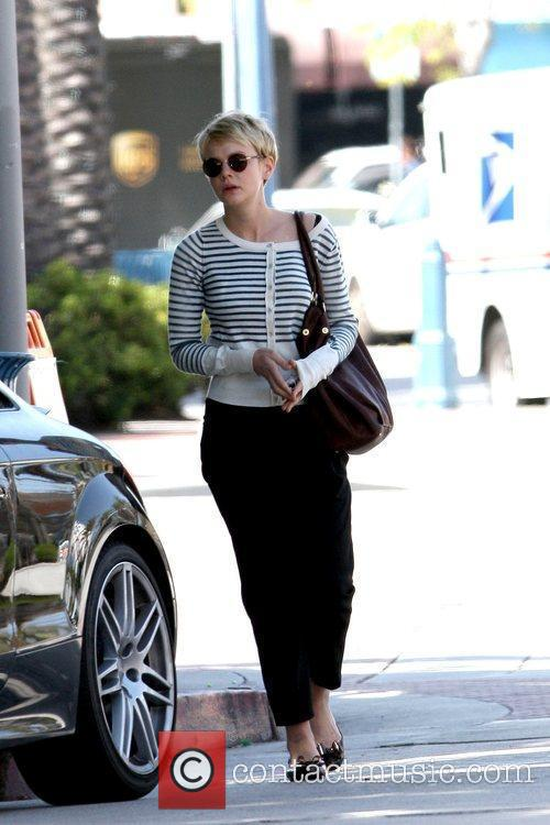 Carey Mulligan arrives at an office building in...