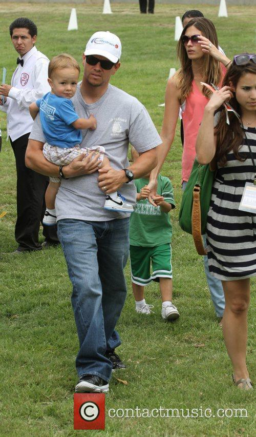 Mark Wahlberg and and his wife Rhea Durham...