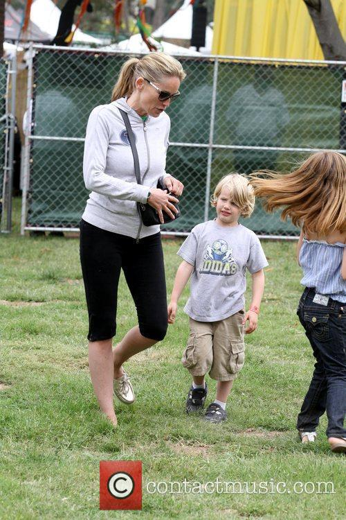 Sharon Stone and her son at the Elizabeth...