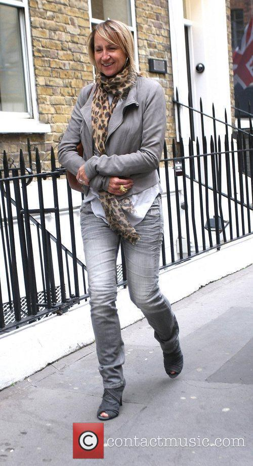 The Loose Women presenter sporting an all grey...