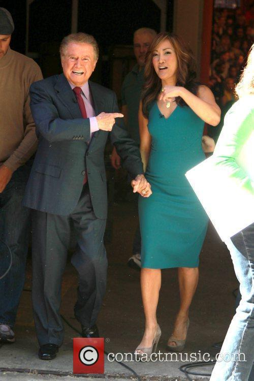 Regis Philbin and Carrie Ann Inaba outside ABC...