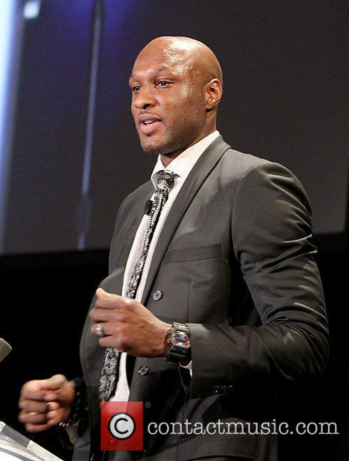 Lamar Odom Casio's Shock the World 2010 event...