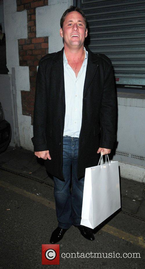 Nick Pickard arrives at Cassie Lomas Makeup Academy...