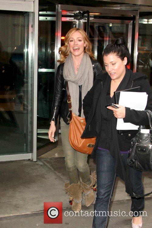 Cat Deeley departs her hotel New York City,...