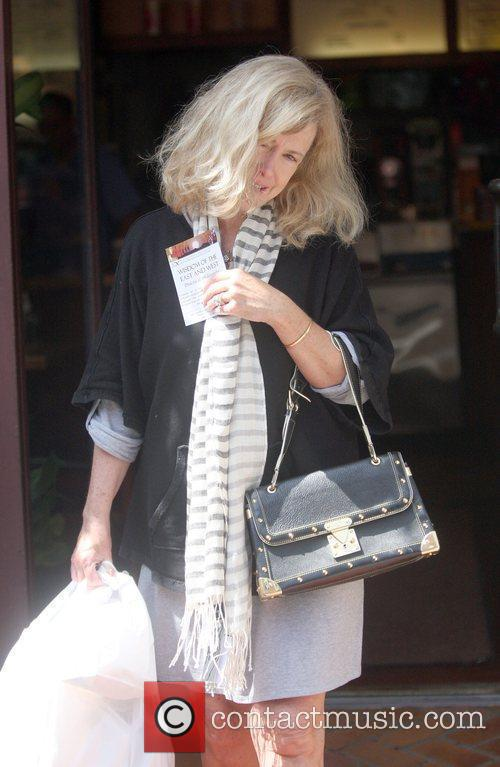 Actress Catherine Hicks picking up lunch from Judy's...