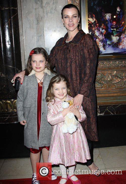 Debi Mazar with daughters Evelyn Mazarand Giulia Mazar...