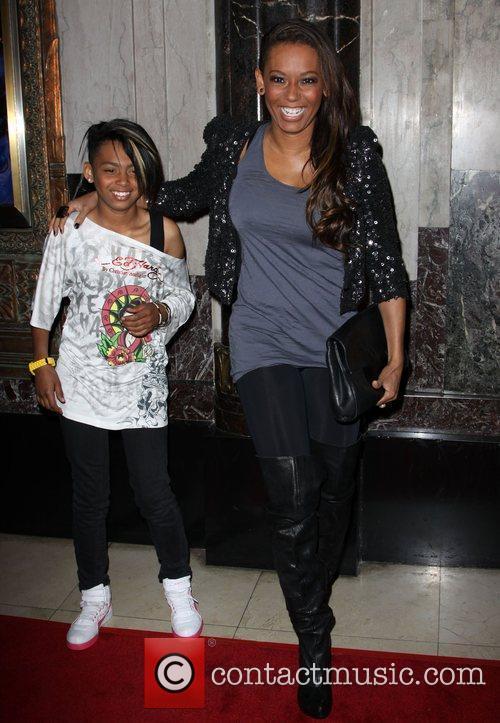 Melanie Brown aka Mel B with her daughter...