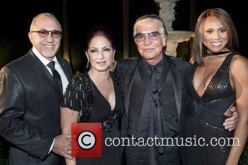Emilio Estefan,Gloria Estefan, Roberto Cavalli and Deborah Cox...