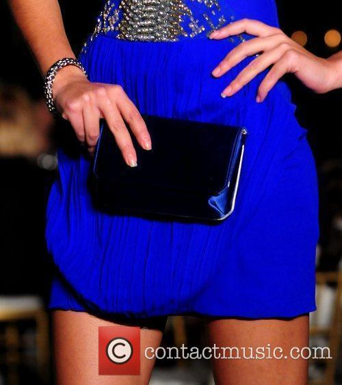 Model Roberto Cavalli Spring 2011 collection show in...