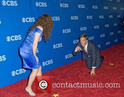 Jerri Manthey and Michael Weatherly  CBS Upfronts...