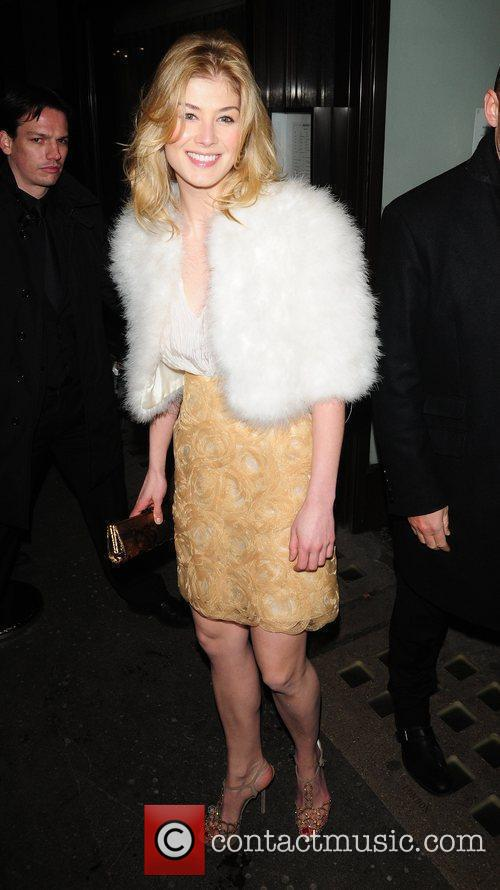 Rosamund Pike attends a party at Cecconi's restaurant...