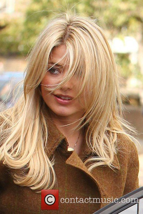 Holly Willoughby arriving at the studio to film...