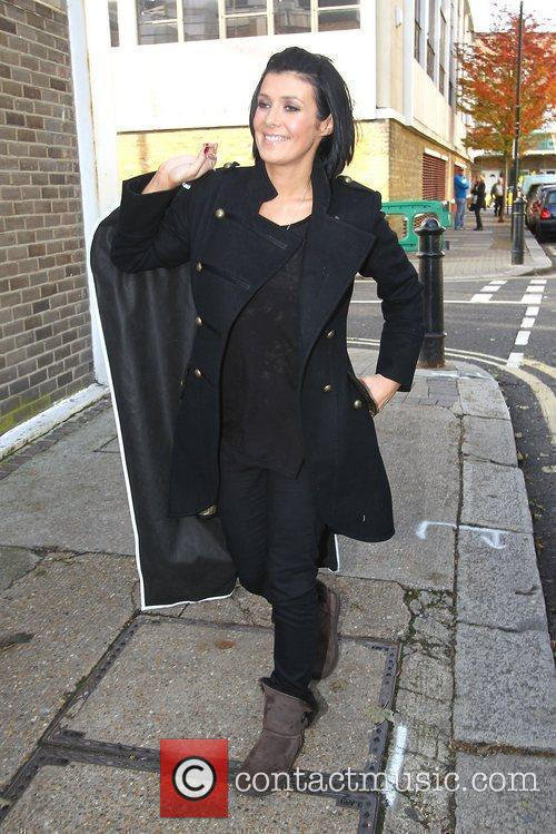 Kym Marsh arriving at the studio to film...