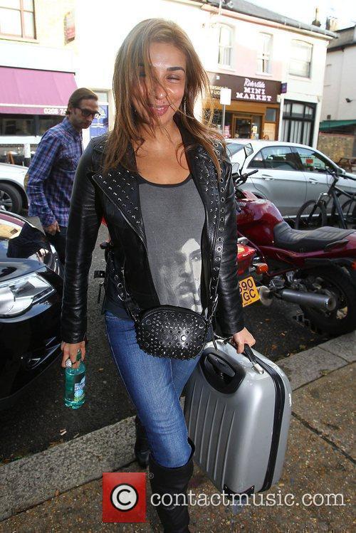 Shobna Gulati arriving at the studio to film...