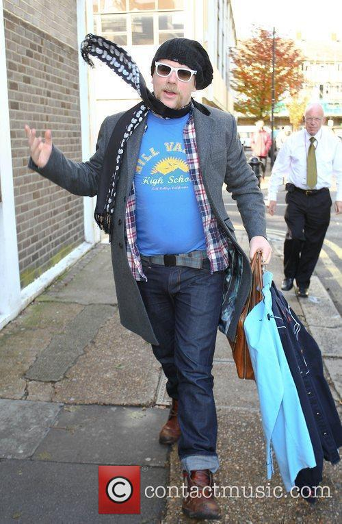 Rufus Hound  Celebrities arriving at the studio...