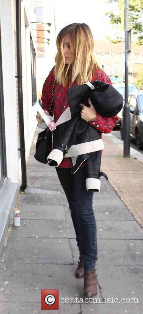 Fearne Cotton Celebrities arriving at the studio to...
