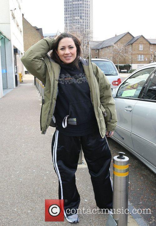 Clare Nasir outside the ITV studios London, England