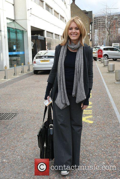 Helen Fospero outside the ITV studios London, England