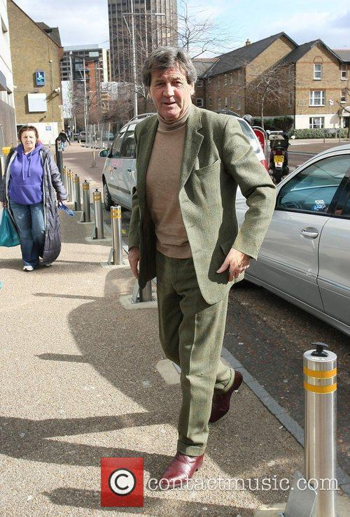 Melvyn Bragg outside the ITV studios London, England