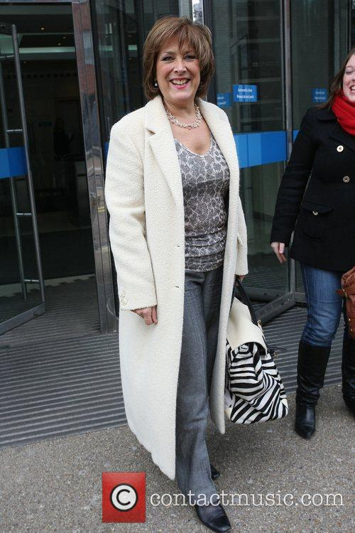 The lady from the Bisto advert outside the...