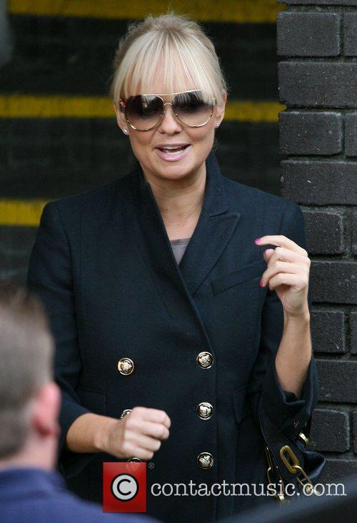 Emma Bunton outside the ITV studios London, England