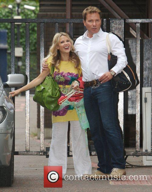 Melina Messenger and Richard Arnold outside the ITV...