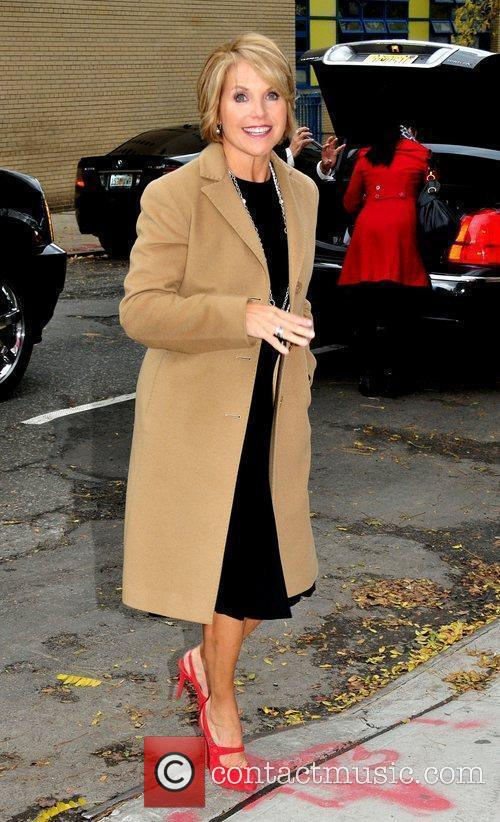 Katie Couric outside the studio ahead of an...