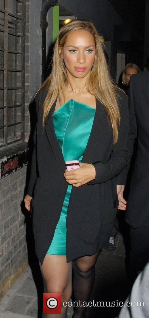 Leona Lewis Celebrities leaving The Empire in Leicester...