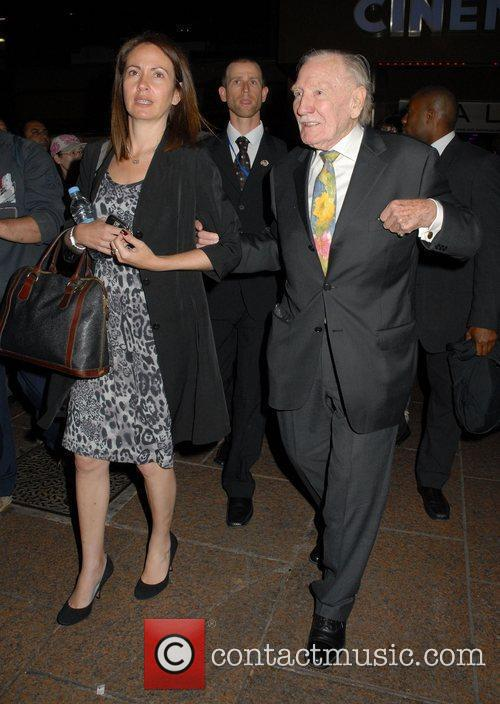 Celebrities leaving The Empire in Leicester Square after...