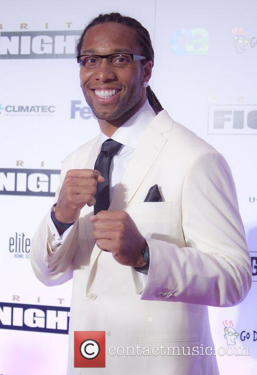 NFL Player Larry Fitzgerald Celebrity Fight Night XVI...