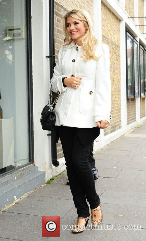 Holly Willoughby  arriving at a studio in...
