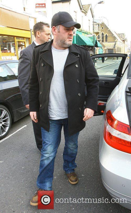 Chris Moyles arrives at the Riverside Studios for...