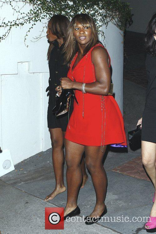 Serena Williams and Venus Williams leaving the Grammy...