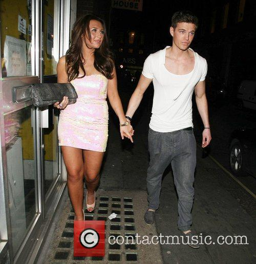 Lauren Goodger leaving Chinawhite nightclub with a friend...