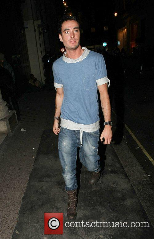 Jack Tweed leaving Chinawhite nightclub