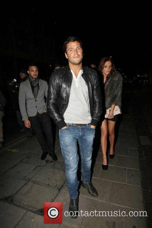 Mark Wright leaving Chinawhite nightclub