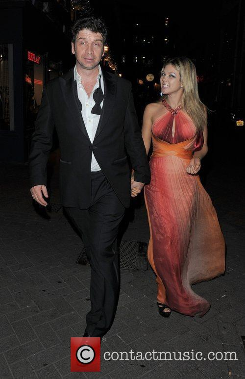 Nick Knowles and a female companion leaving Alto...