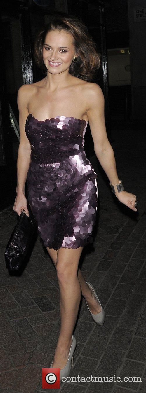 Kara Tointon leaving Alto nightclub.