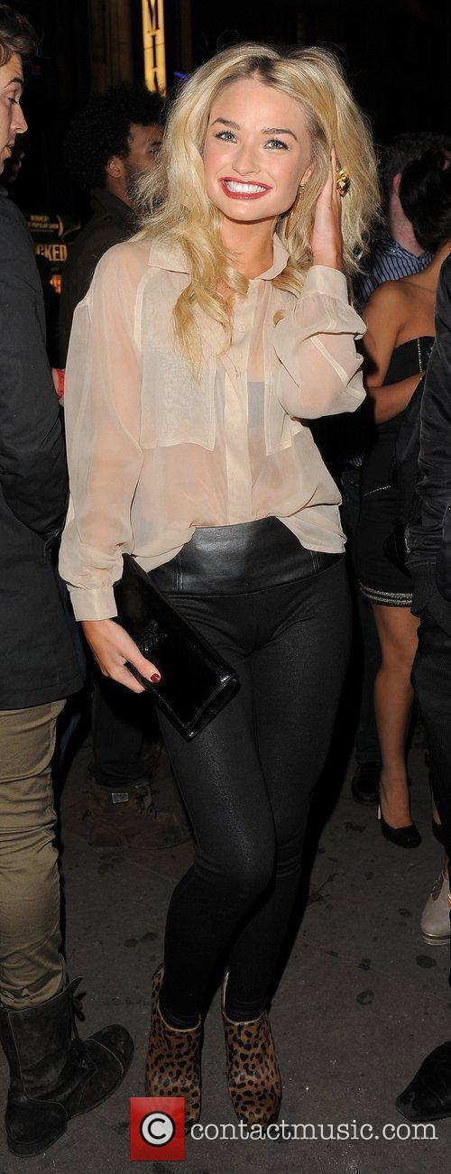 Emma Rigby arrives at Cafe de Paris nightclub.