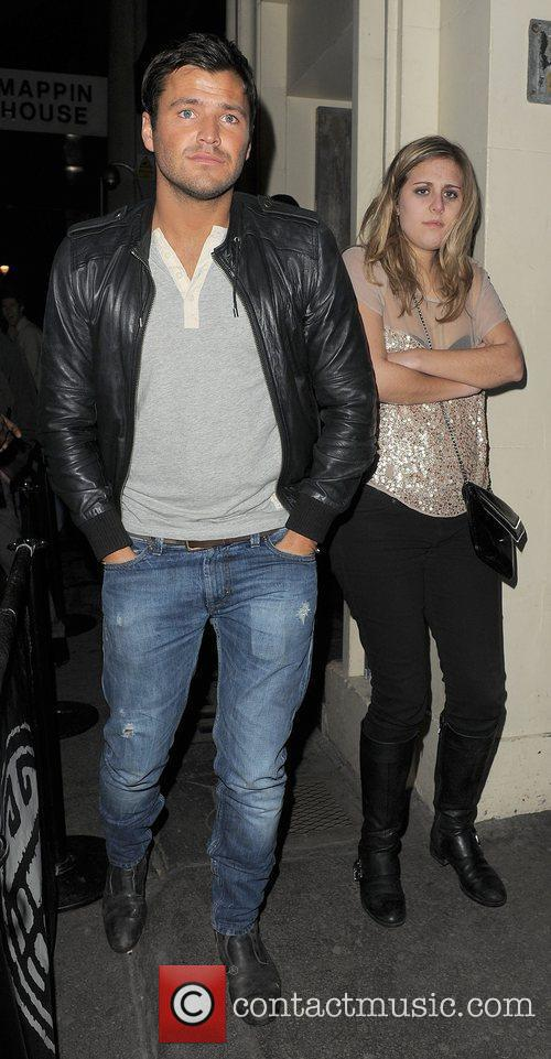 Mark Wright leaving Chinawhite nightclub with two female...