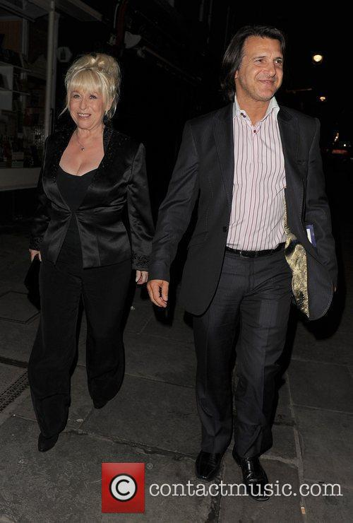 Barbara Windsor and husband Scott Mitchell leaving the...