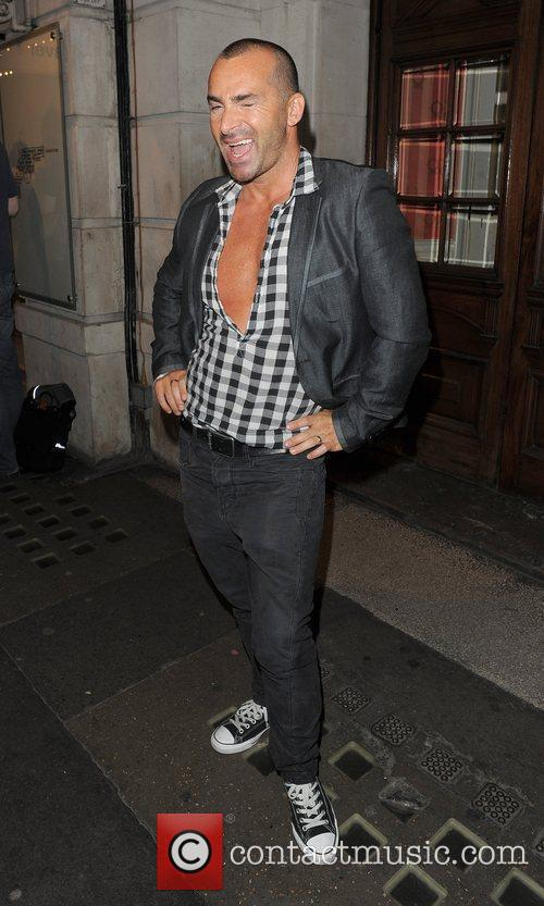 Louis Spence leaving the 'Deathtrap' press night at...
